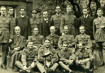 Photograph of Servicemen Weekend Retreat, Campion Hall, Oxford, 1918