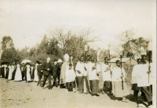 Photograph of a procession in St Peter's, Salisbury, Zimbabwe
