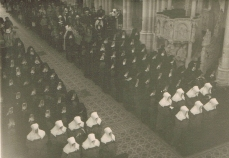Profession ceremony in St Laurent-sur-Sèvre, France, 1930s (Ref: 6329)