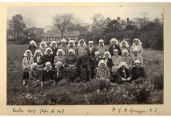'Women retreats and view of Harborne Hall', Easter 1927