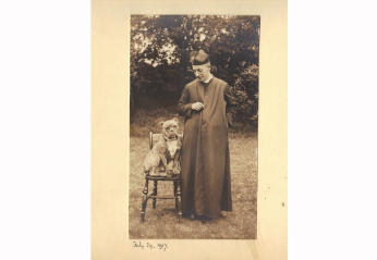 Fr Charles Plater SJ and his dog, July, 1917