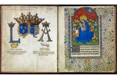 The Beginning of the Fifteen Joys of the Virgin Mary, from the Hours of Marie De Rieux (15th century) (File reference: SCA CB/57/2)