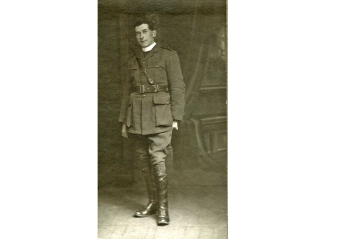 Hugh Cameron in full uniform from 'A Priest in Gallipoli' by John Watts