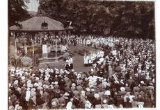 Arrival of the celebrant, Bishop Amigo, 7 July 1935, Canterbury parish (File reference: Canterbury Parish box)