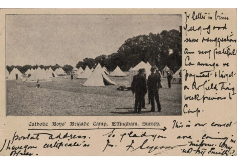 Catholic Boys' Brigade Camps, Effingham, early 1900s (File reference: D40.1)