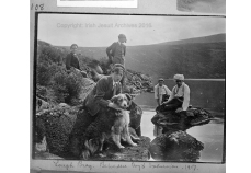 Photograph taken by Mr James Farrell SJ (1894-1933) of the Belvedere College boys' excursion in 1917, to Lough Bray, county Wicklow. (Reference: IE_IJA_Farrell_108)