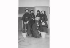 Sisters in Roehampton during World War Two